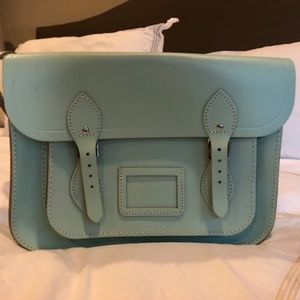 "13"" Mint Cambridge Satchel"